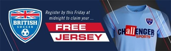 British Soccer Free Jersey ad promo