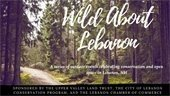 photo of woodlands with Wild about Lebanon text overlay
