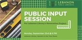 Public Input Session for Lebanon Library Renovation Project