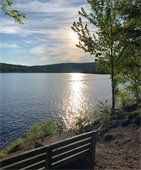 View of Mascoma lake from the Rail Trail. Photo submitted by Pedro Alvarez.