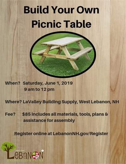 Build Your Own Picnic Table Flyer