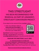 pink streetlight removal flyer