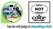 banner for Refill NOT Landfill event