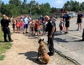 K9 demo at Camp Kaleidoscope with Officer Perkins and K9 Blesk