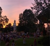 Sunset over Colburn park during the Haley and the Primates concert on the 4th of July 2019. Photo submitted by Dan Mielcarz.