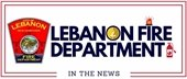 Lebanon Fire Department in the news logo with department patch