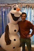 Olaf with Recreation Director Paul Coats
