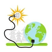 clipart of earth plugged into the sun