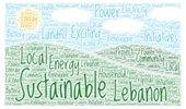 Word Art for Sustainable Lebanon Energy Talk Event