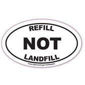 Refill NOT Landfill Sticker