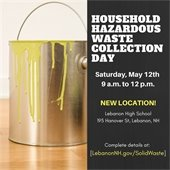 hazardous waste day promo with can of yellow paint