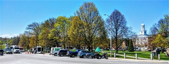 """""""Springtime culture and greenery coming into bloom at Colburn Park! Grab an Advance Transit or your bike to get there and try the lineup of local food vendors in preparation for the Lebanon Food Truck Festival on June 22."""" Photo submitted by Rebecca Owens."""