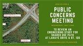 Public Concerns Meeting promo ad
