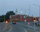 Full moon at dusk over Lebanon Fire Department. Photo submitted by Paul McDonough.