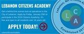 Lebanon Citizens Academy banner - Apply Today