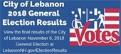 City of Lebanon 2018 General Election results promo banner