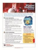 winter holiday safety tips flyer