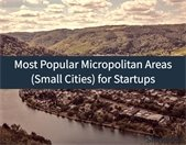 Most popular micropolitan Areas for Startups from ShriverWeb