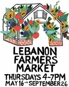 Lebanon Farmers' Market flyer