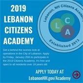 2019 Lebanon Citizens Academy promo
