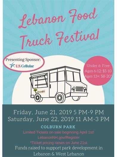Lebanon Food Truck Festival Flyer