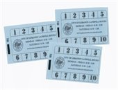 blue landfill punch cards