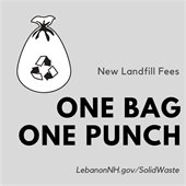 one bag, one punch promo logo with bag of garbage