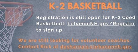 K-2 Basketball Reg & Coaches