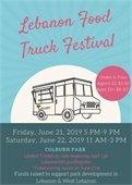 Lebanon Food Truck Festival 2019 Flyer