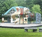 Recreation Facilities community meeting notice with playground photo