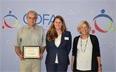 Councilor Below receiving CDFA award
