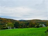 A view of Whaleback Mountain and autumn's splendor from Farr Road.