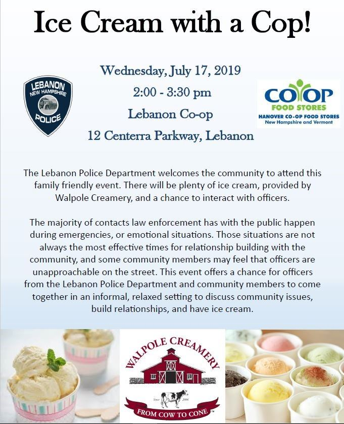 Ice Cream with a Cop Flyer