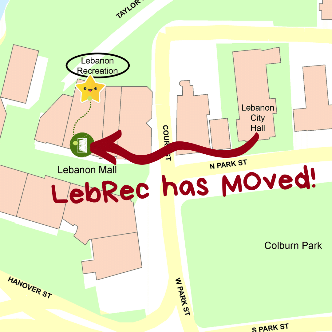 map of new Lebanon Recreation and Parks Department location