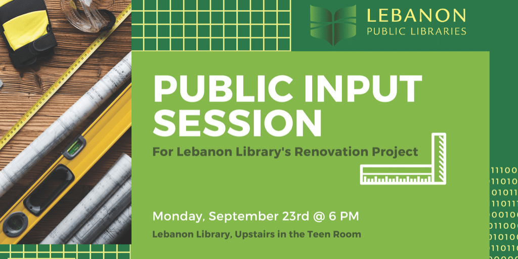 Library Renovations Public Input Session
