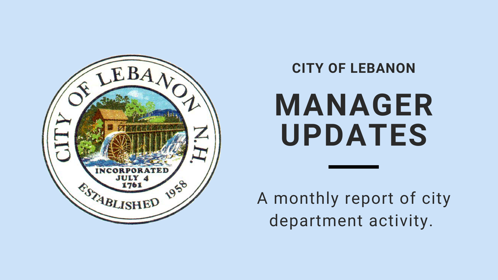 Manager Update with City seal