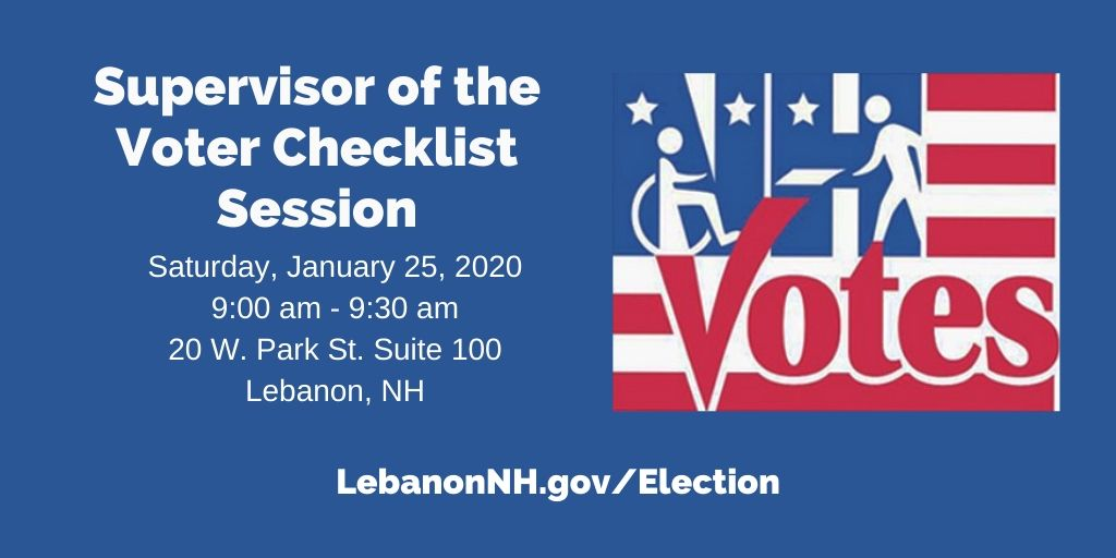 Supervisor of the Checklist Session January 25, 2020