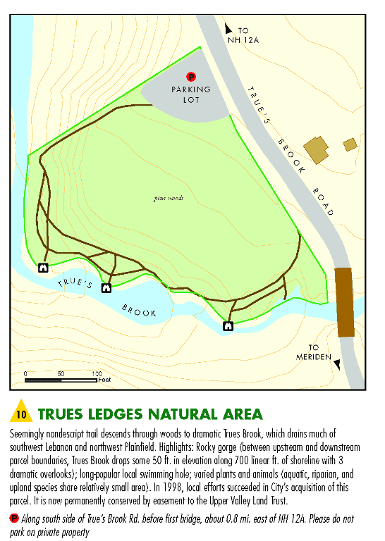 Trues Ledges Map