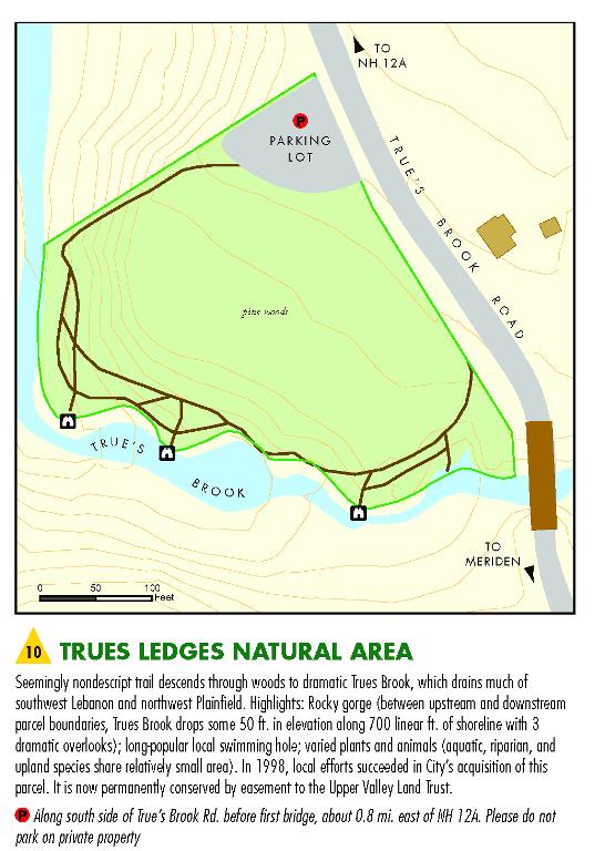 Trues Ledges Map