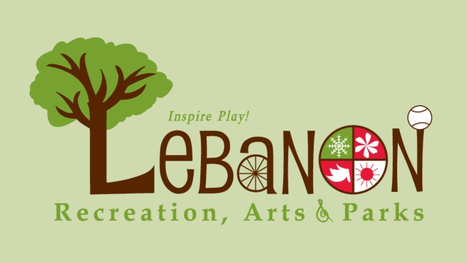 Lebanon Recreation, Arts, and Parks New Logo