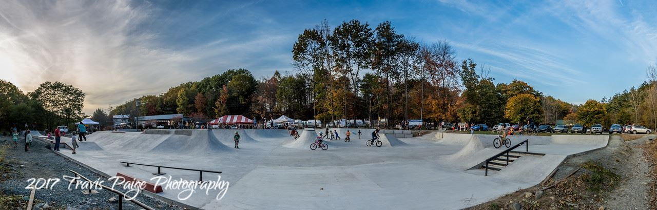 Skatepark panoramic by Travis Paige Photography 2017