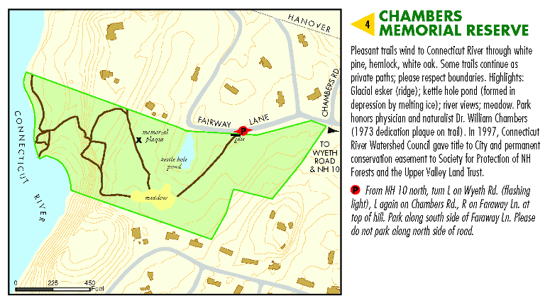 Chambers Memorial Reserve Area Map