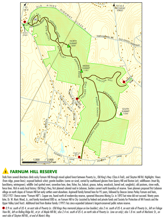 Farnum Hill Area Map
