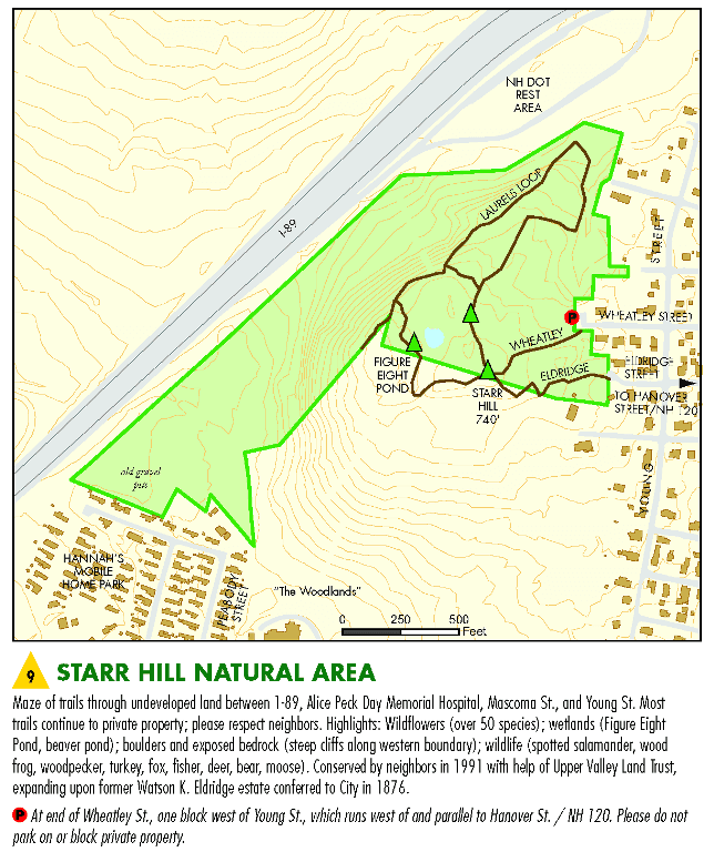 Starr Hill Area Map