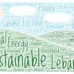 Sustainable Lebanon Word Art