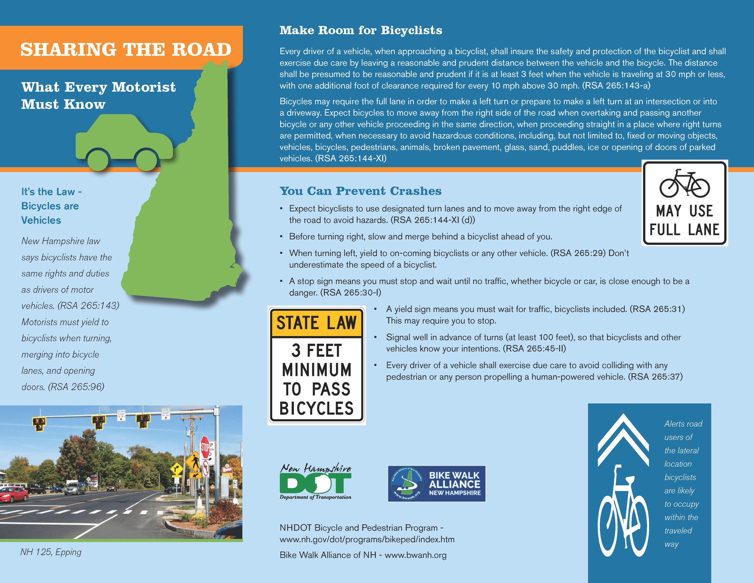 Sharing the Road Infographic