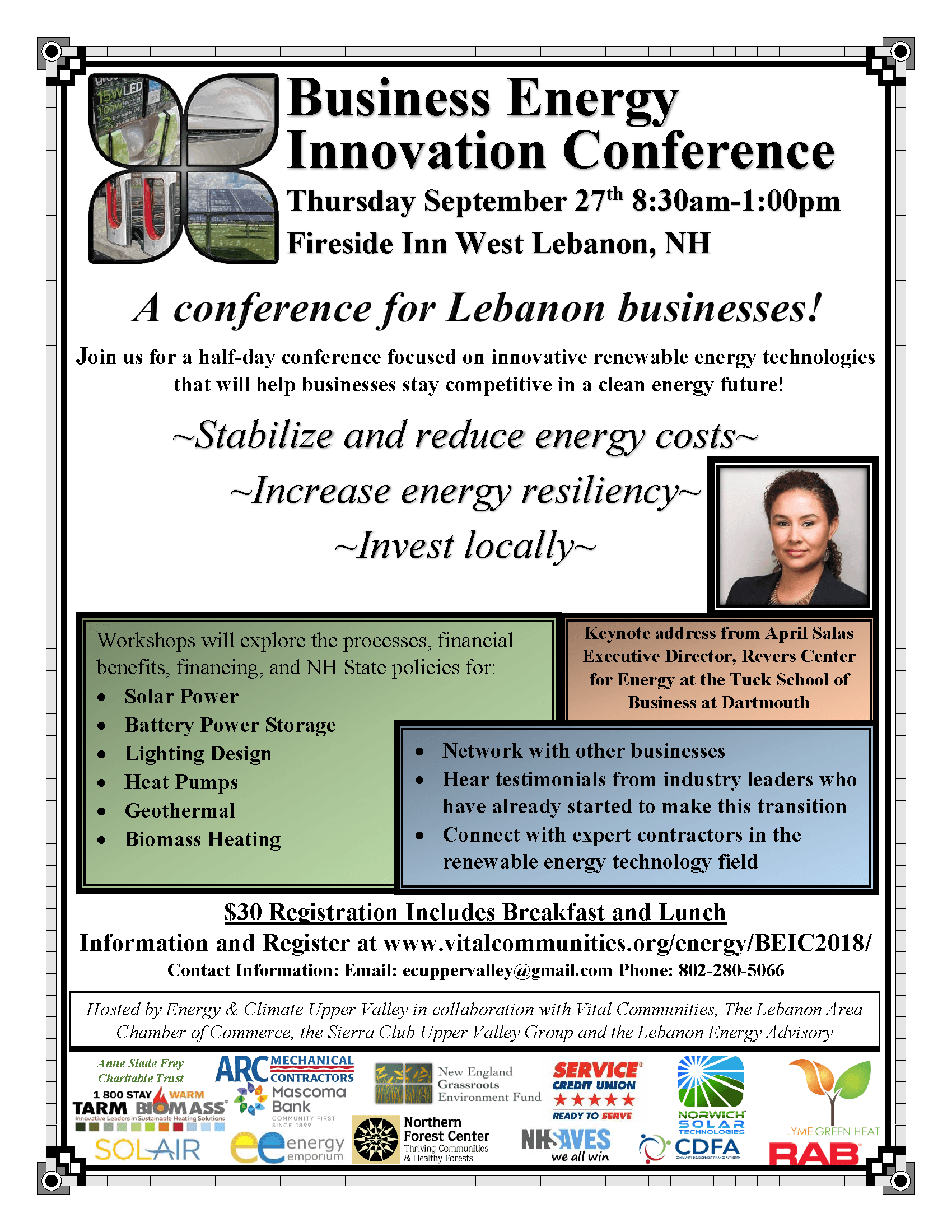 Business Energy Innovation Conference flyer