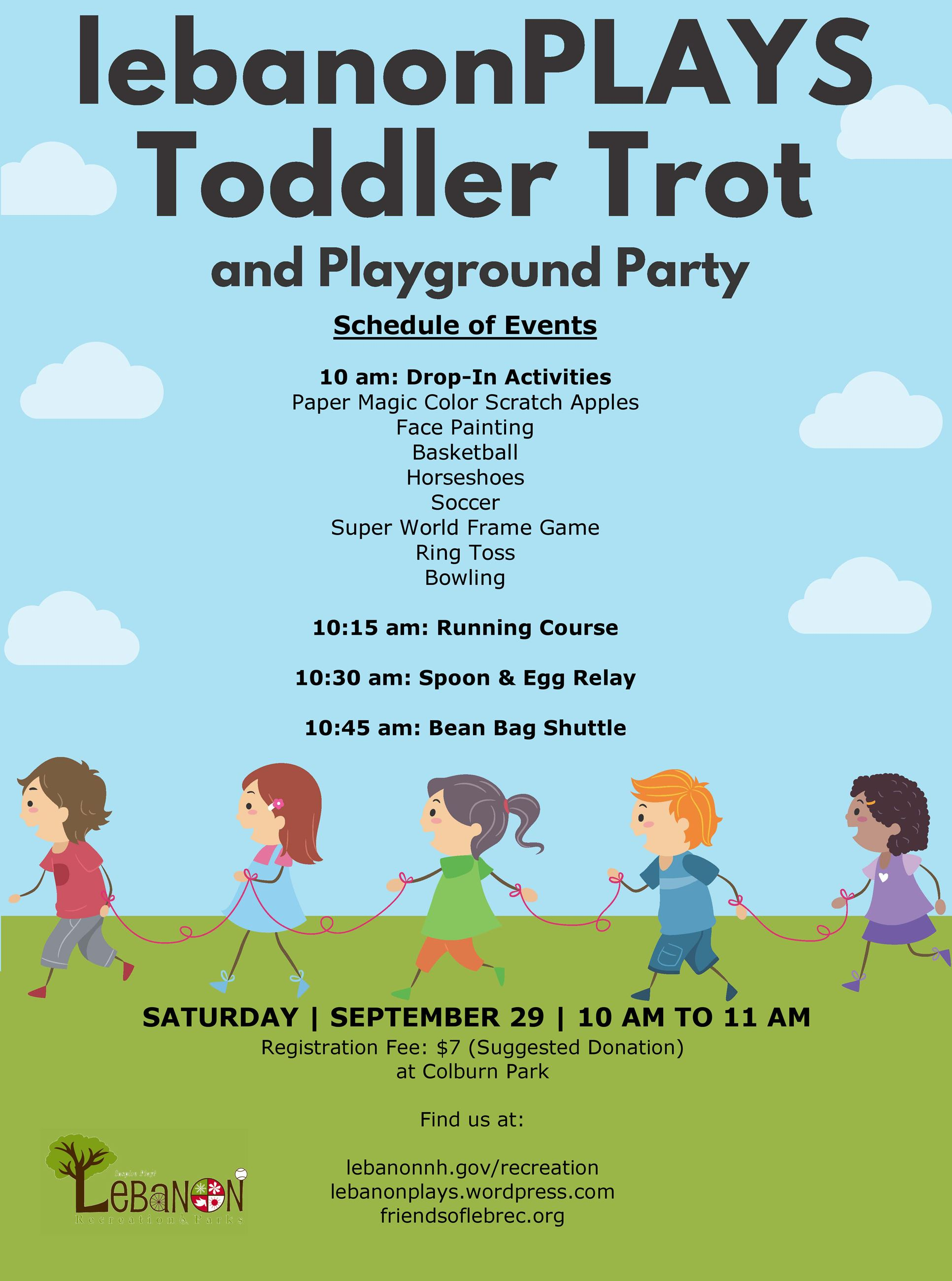 Toddler Trot 2018 Schedule