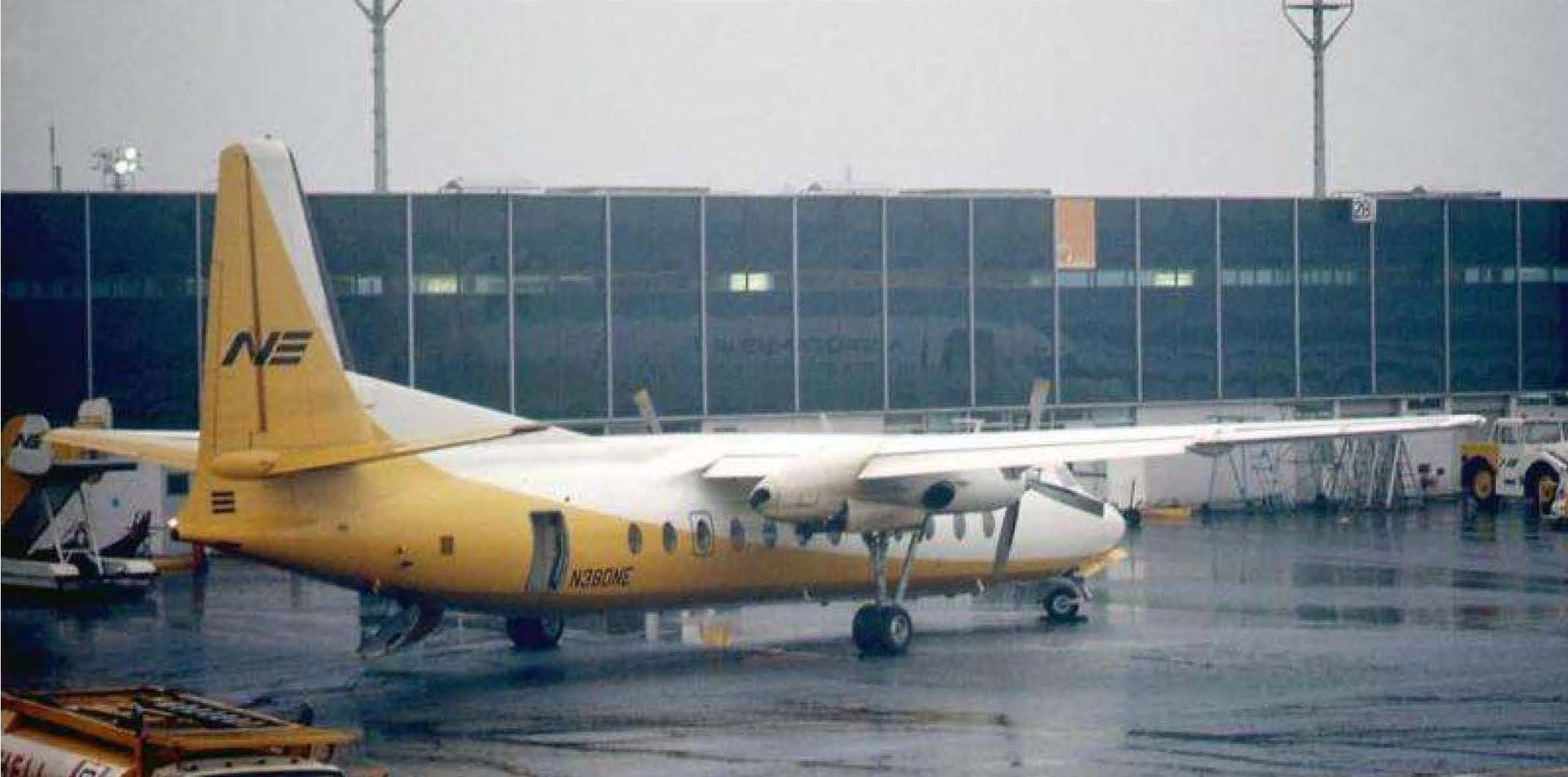 photo of the Northeast Airlines FH-227 N380NE that would be lost in the October 1968 accident.