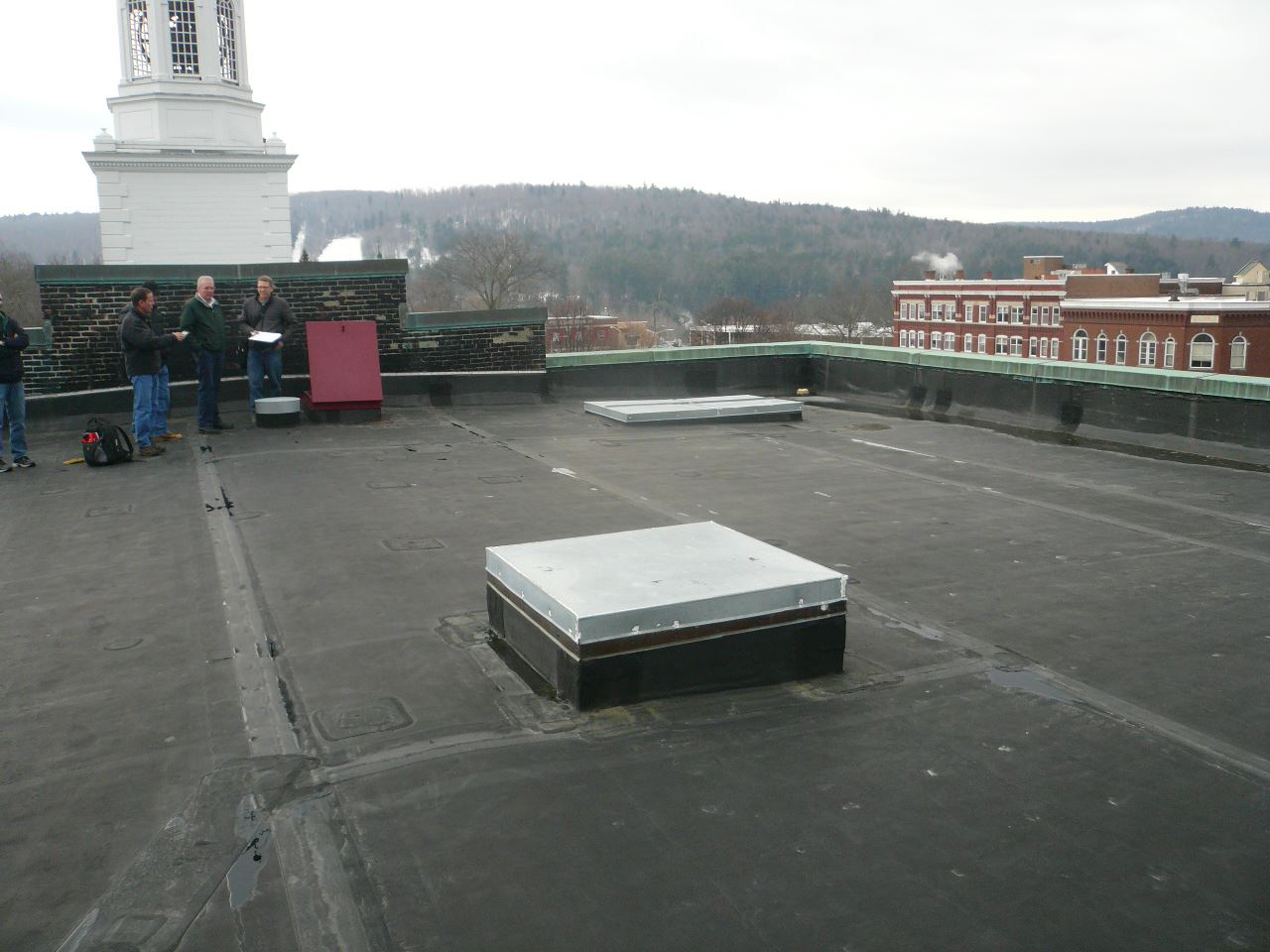photo of Lebanon City Hall rooftop by clock tower